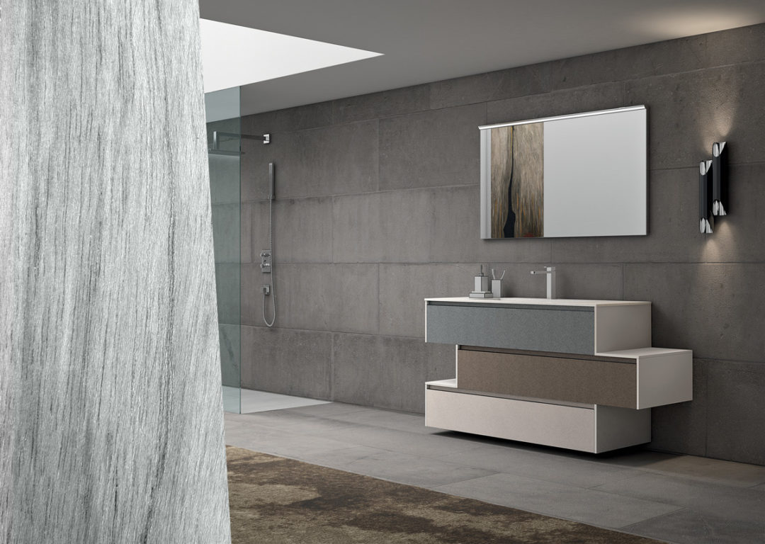 Top Bagno In Kerlite The Plano Composition 11 To Furnish The Bathroom Alpemadre