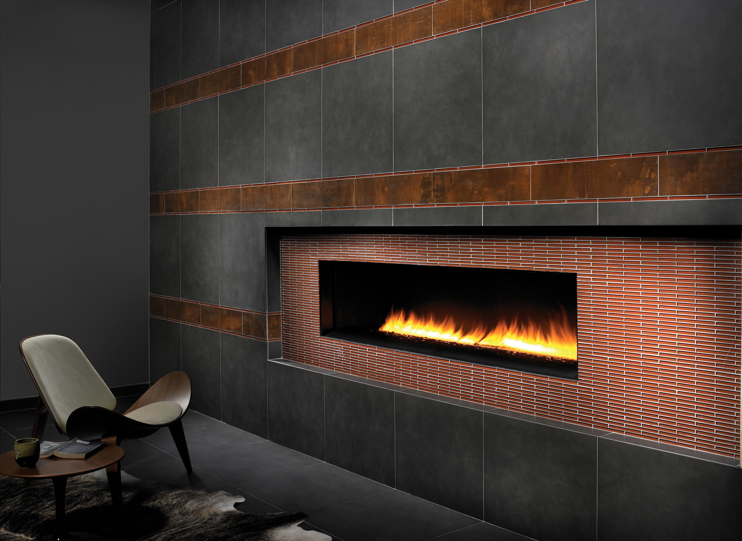 Spark Fireplaces Custom Tile Fireplace Feature Alpentile Glass Tile Pools