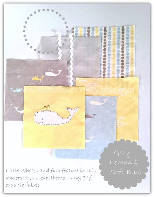 little whale mood board featuring birch fabrics