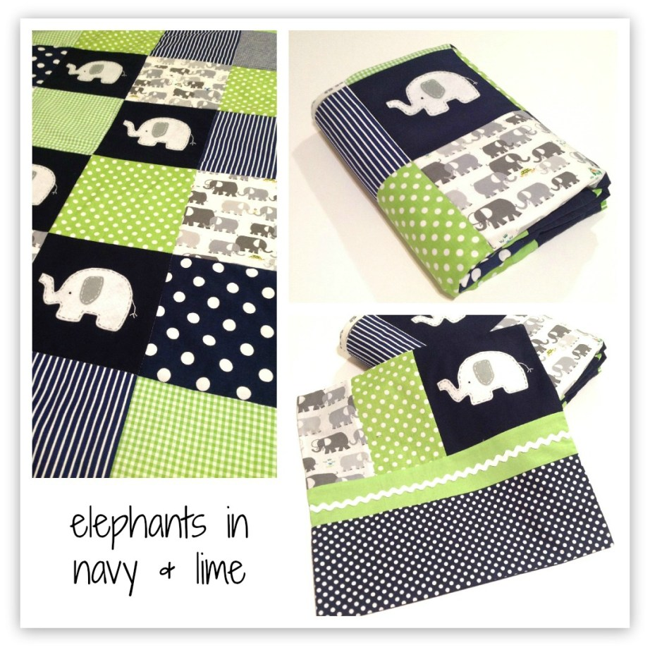 elephant quilt by alphabet monkey
