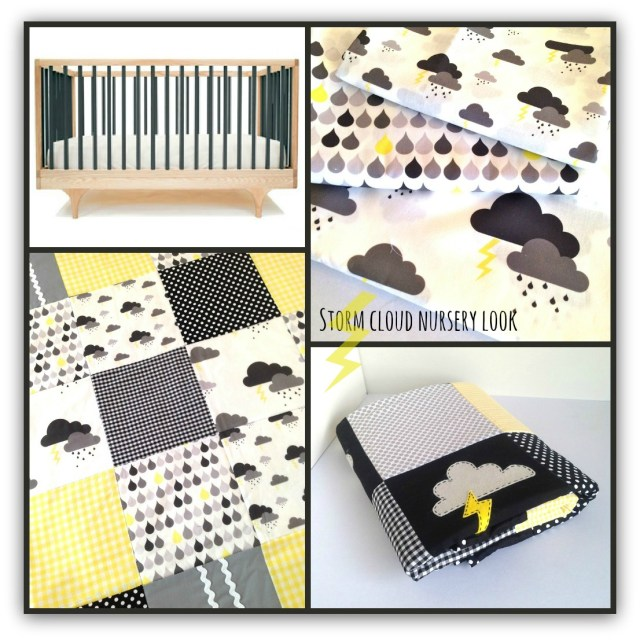 storm cloud nursery in black grey and yellow