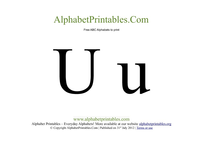 Uppercase Lowercase Alphabets to Print Alphabet Printables org