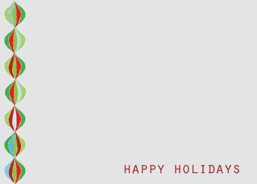 happy holidays printable card