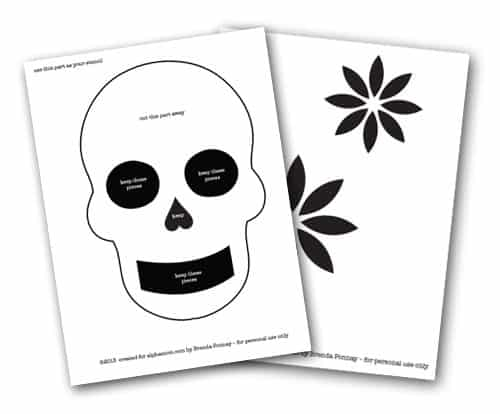 Outstanding Day Of Dead Skull Template Collection - Certificate ...