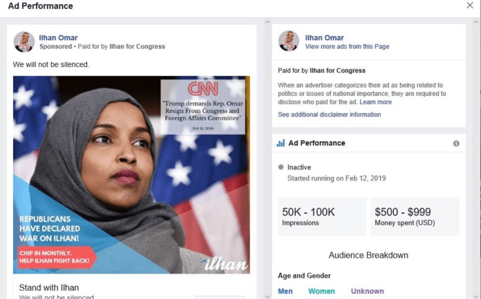 ilhan omar twitter comment picker facebook sign