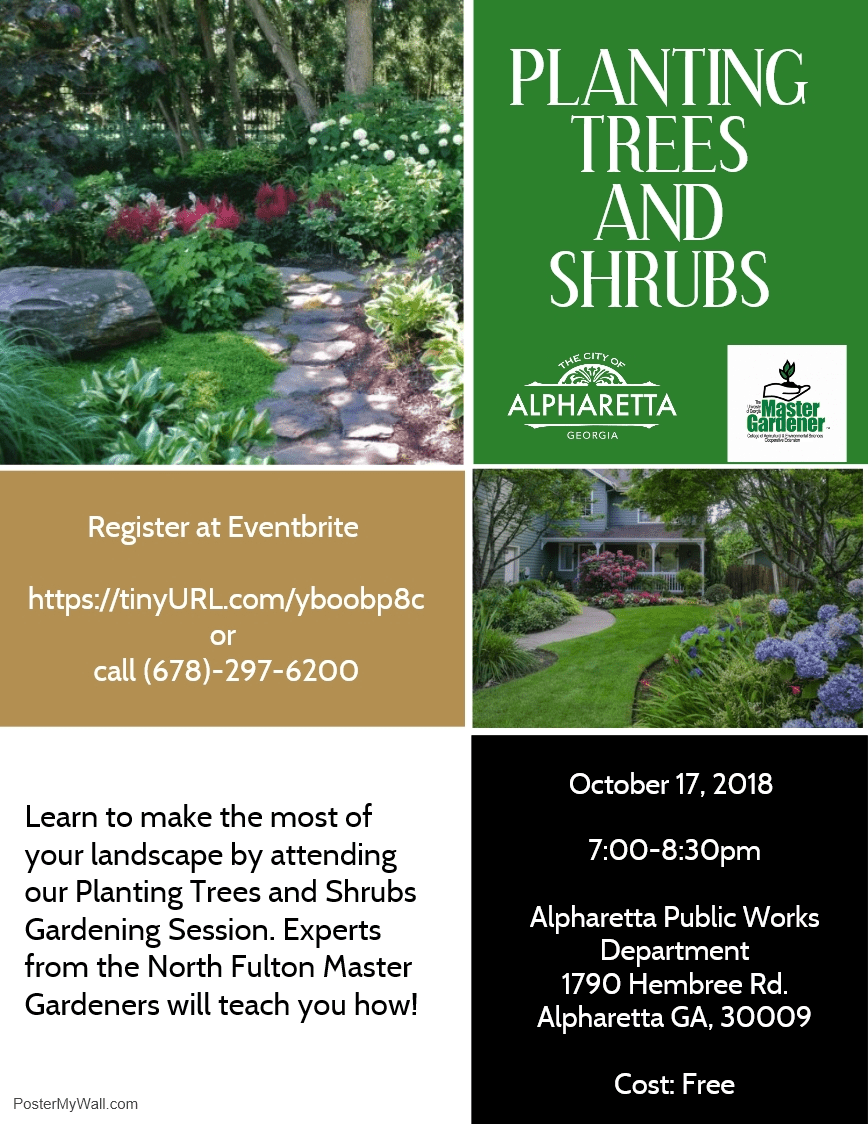 Trees And Shrubs Alpharetta To Host Workshop On Planting Trees Shrubs