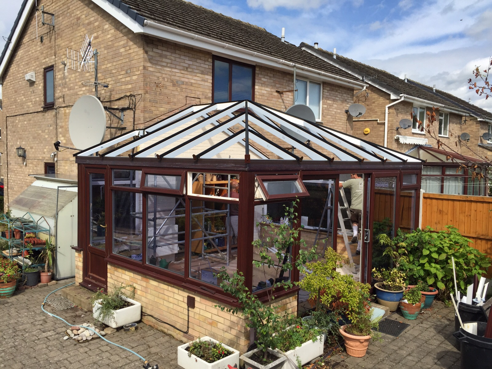 Glass Roof Extension Upgraded Roof Renovates Harrogate Extension Alpine Glass