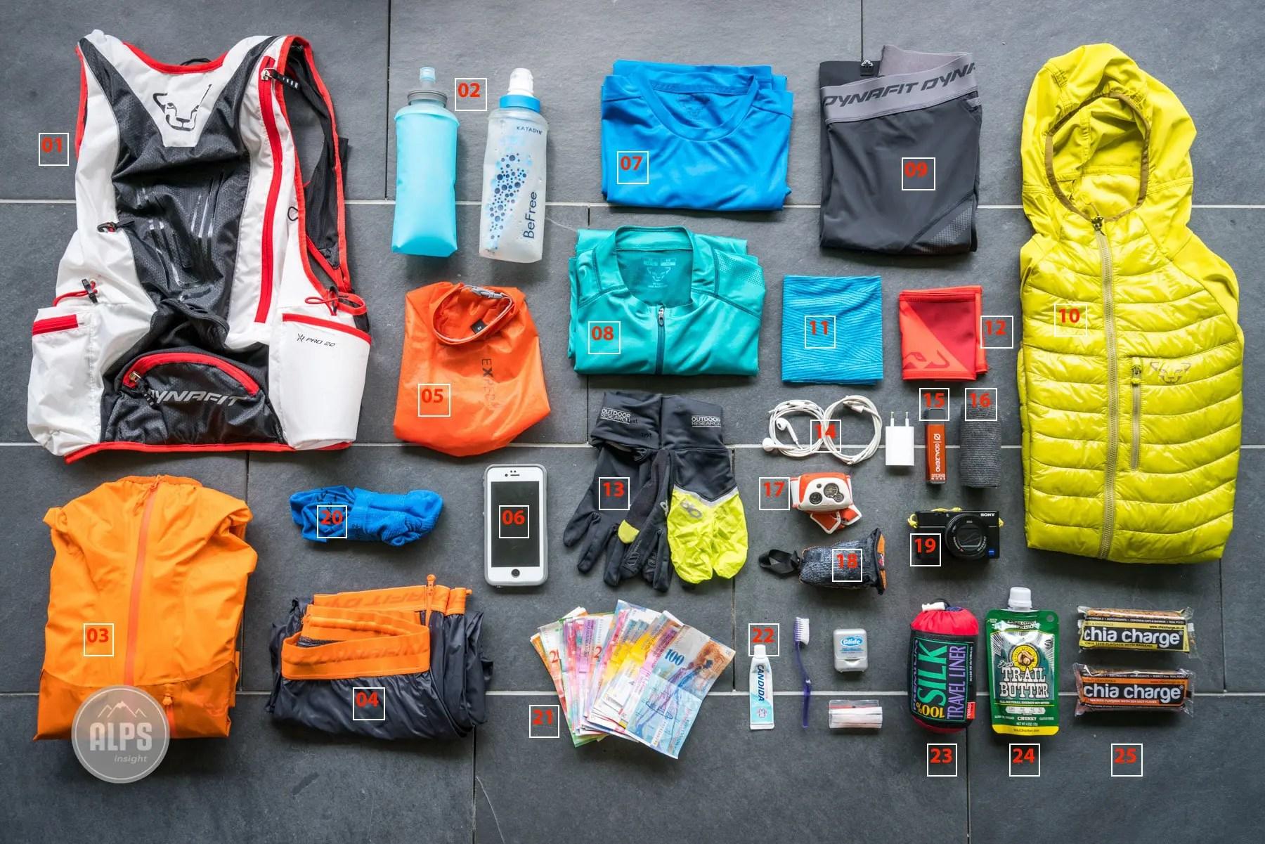 Ultralight Trail Running Gear For Multi Day Running Tours