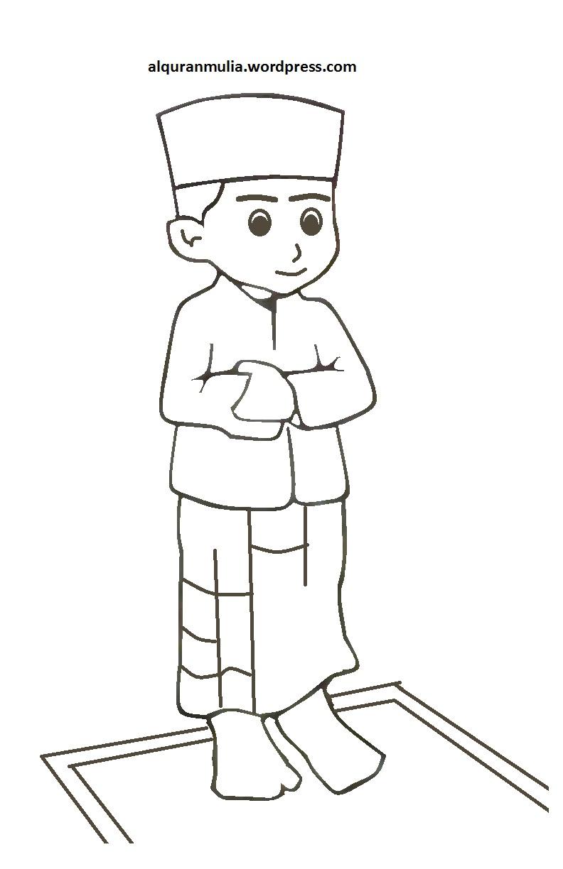 76  Gambar Kartun Orang Sholat Paling Bagus