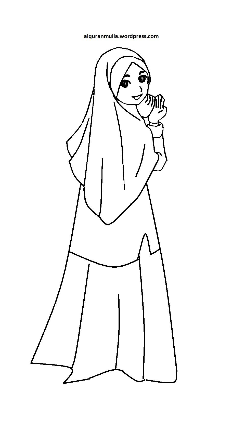 Mewarnai Gambar Kartun Anak Muslimah 48 Auto Electrical Wiring Diagram