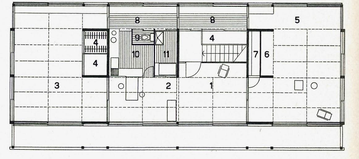 Kenzo Tange - Tange House, Tokyo (1951-53) NAPOLJE Pinterest - programme pour plan de maison