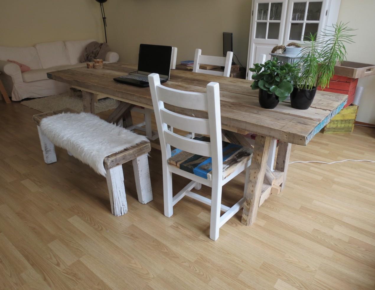 Grote Houten Tafels : Grote houten tafel grof houten tafel cm specialist in teak