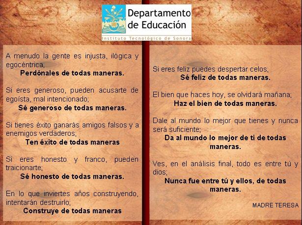 Reflexiones para el ser humano Lo prefiero todo en español - complaint words