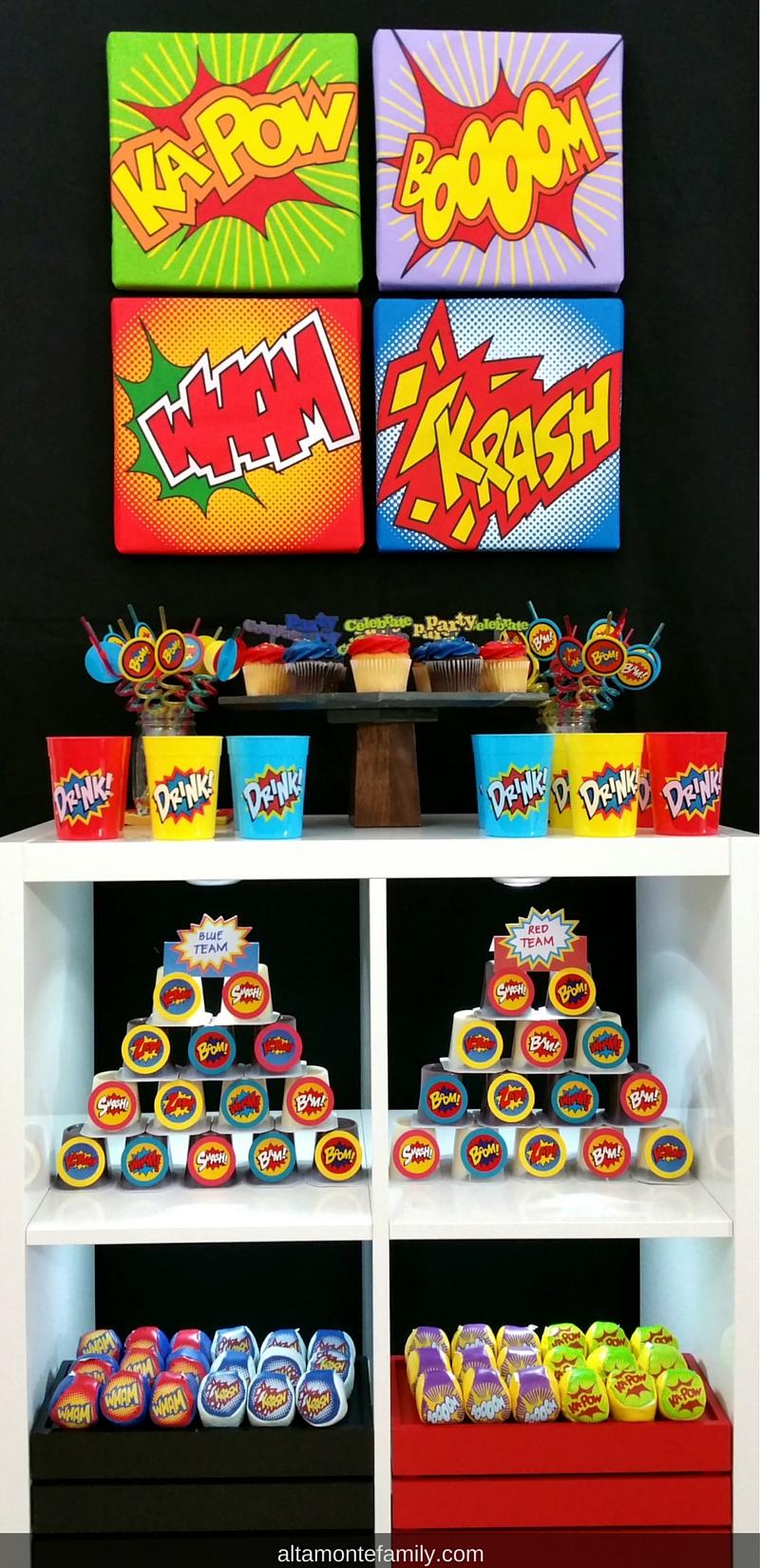 superhero party decorations