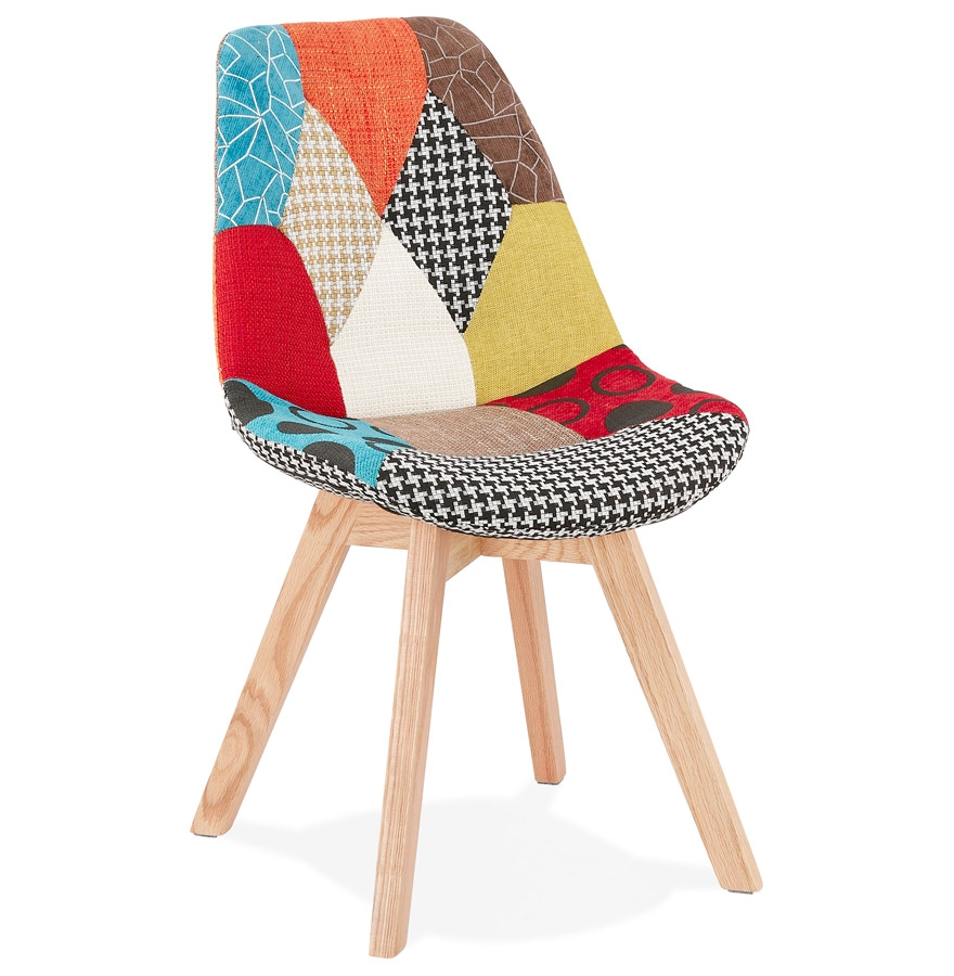 Chaise Design Patchwork Chaise Scandinave Patchwork Gris