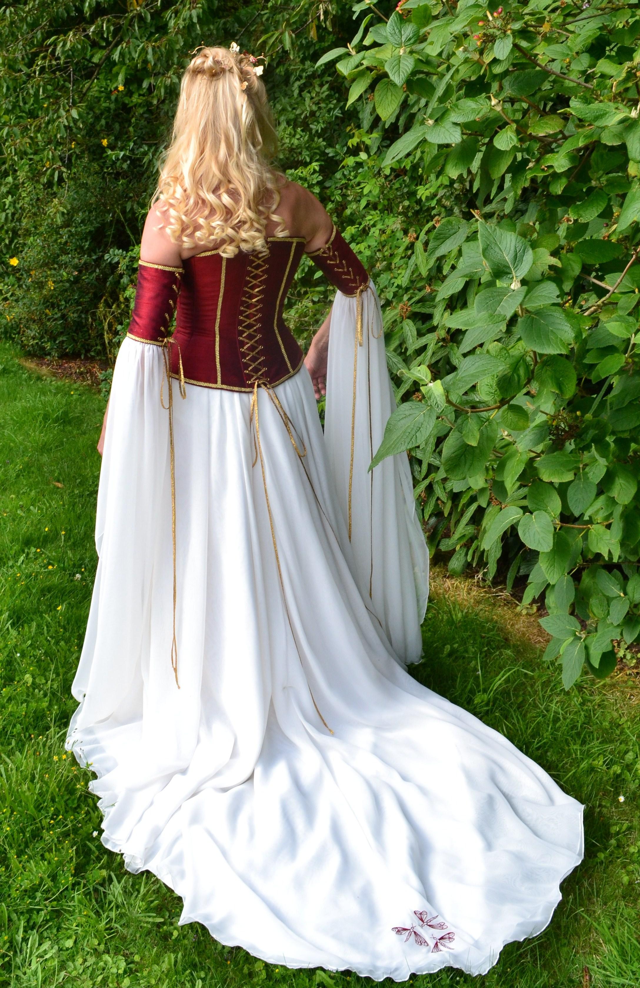 fantasy wedding dresses elvish wedding dress Gill