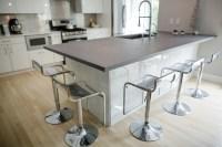Concrete Kitchen Island Countertop Color: Steel Reserve NE ...