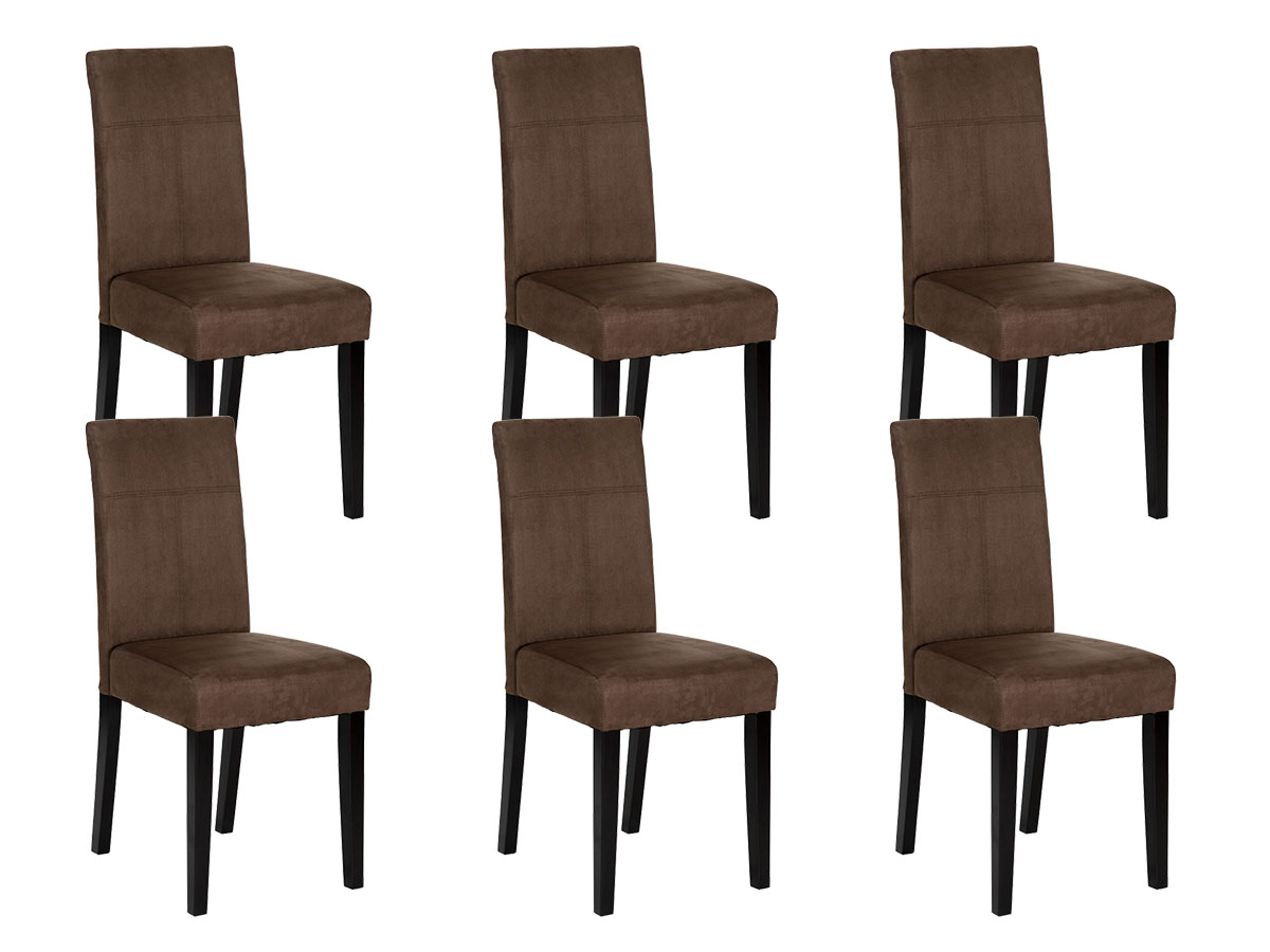 Lot De 6 Chaises Cdiscount Lot De 6 Chaises Marron
