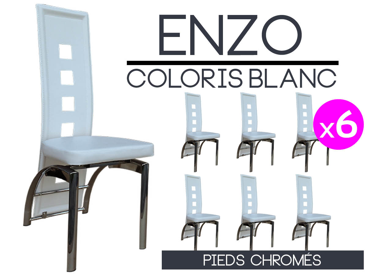6 Chaises Blanches Perfect Lot De 6 Chaises Blanches With Lot De 6 Chaises