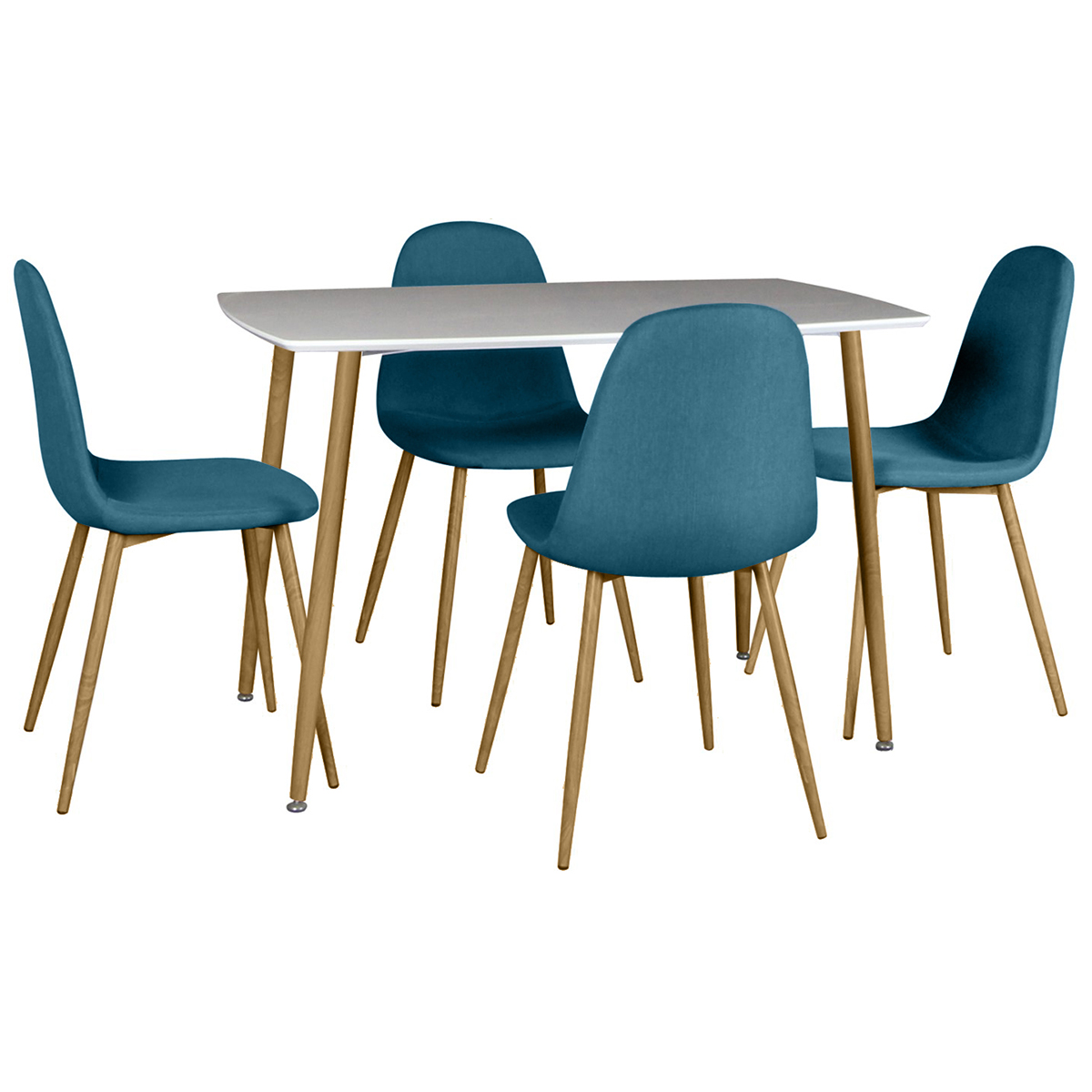 Chaises De Table Winter Ensemble Table 4 Chaises Bleues Altobuy Meuble Literie