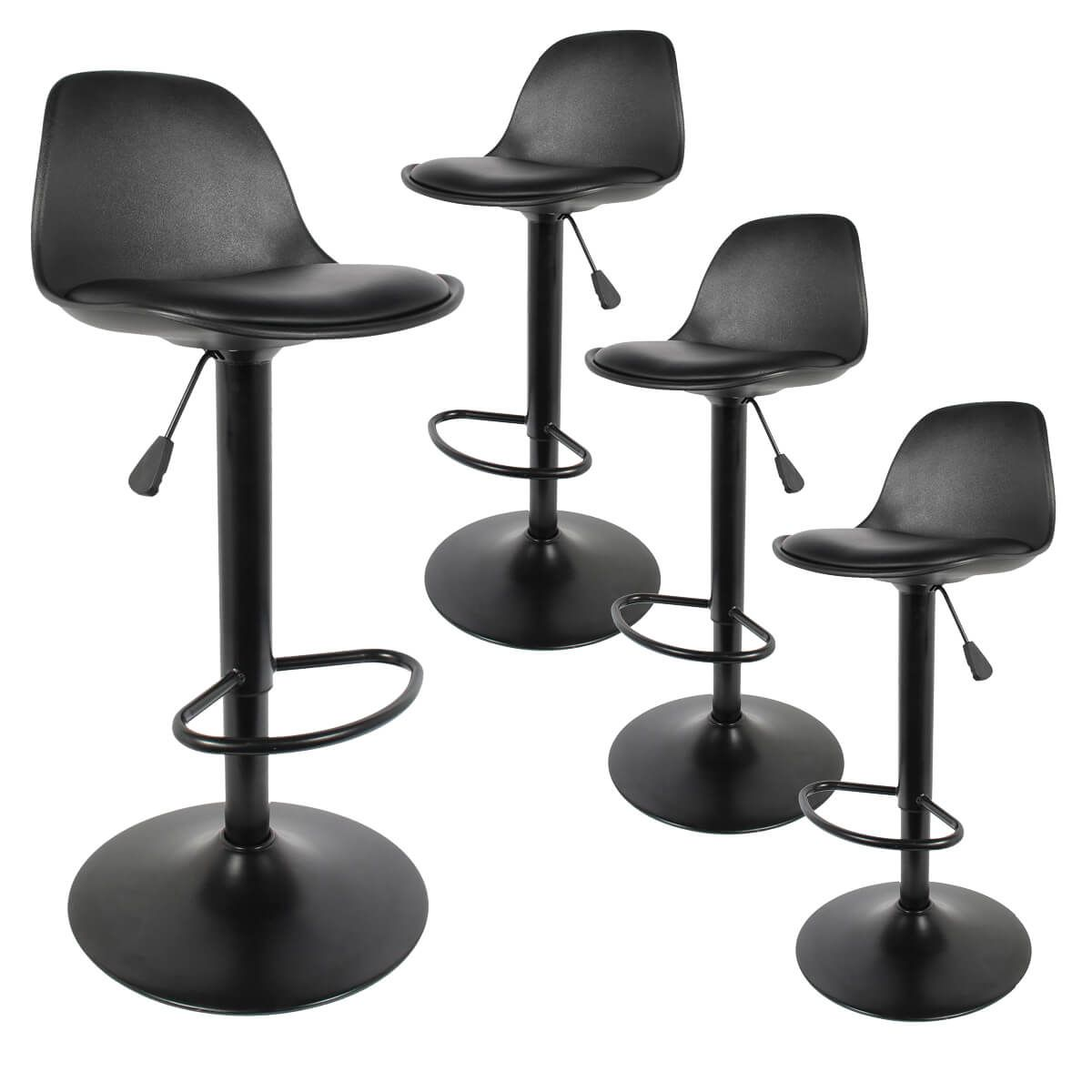 Altobuy Newton Lot De 4 Tabourets De Bar Coloris Noir Neuf Ebay