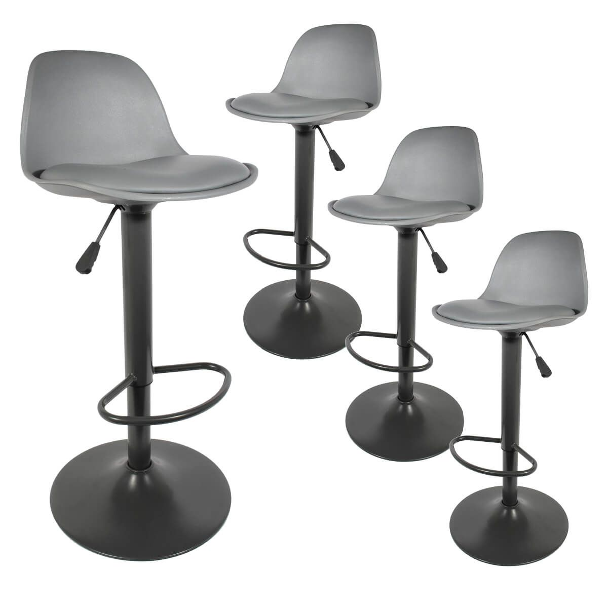 Altobuy Newton Lot De 4 Tabourets De Bar Coloris Gris Neuf Ebay