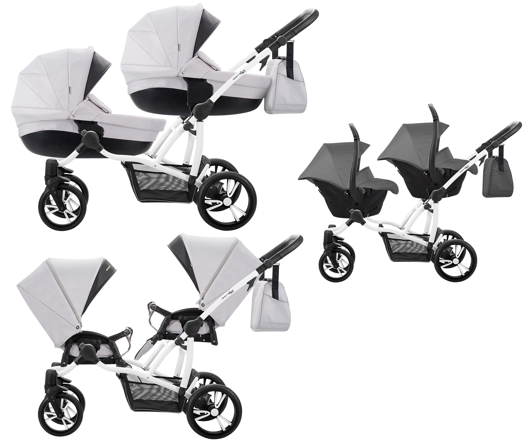 Twin Stroller And Carseat Details About Double Bebetto42 Twin Tandem Duo Pram Pushchair Stroller Buggy Car Seat 2 Babie