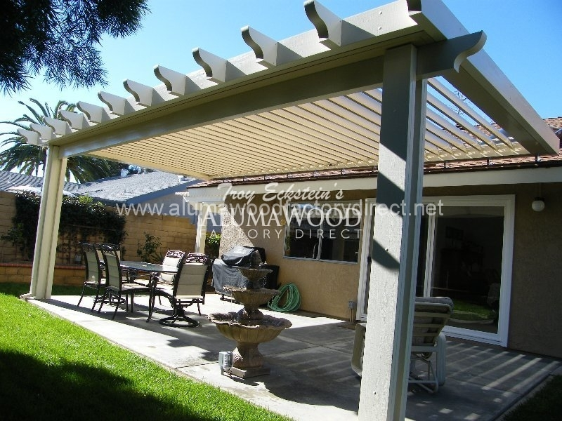 Gable Newport Flat Pan Alumawood Patio Cover 126jpg