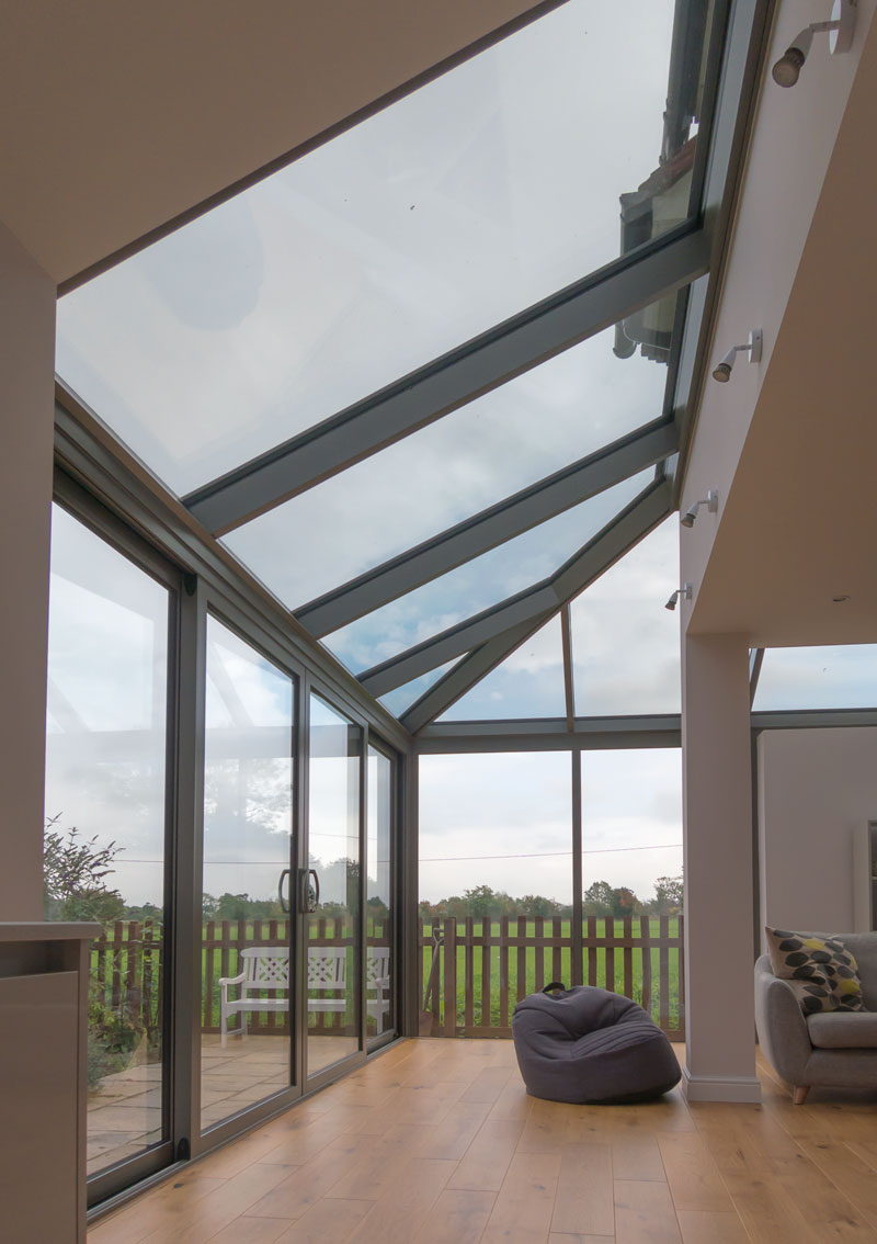 Glass Roof Extension Schuco Cmc50 Roof