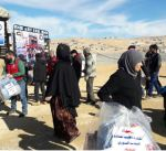 الهلال الأحمر يواصل توزيع المساعدات على الأسر السورية النازحة في لبنان