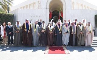 الغانم يلتقي رئيس مجلس الشورى البحريني