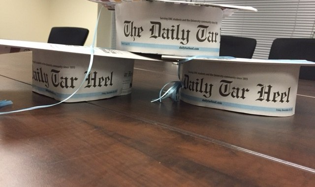 Many DTH alumni like to say they graduated from the DTH instead of UNC. Caps by design editor Jose Valle.