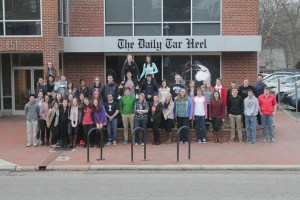 This picture of the 2014-15 staff was taken Feb. 23, 2015. The editor-in-chief was Jennifer Surane.