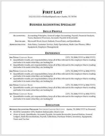Resume Templates Southern Career Institute SCISouthern Careers
