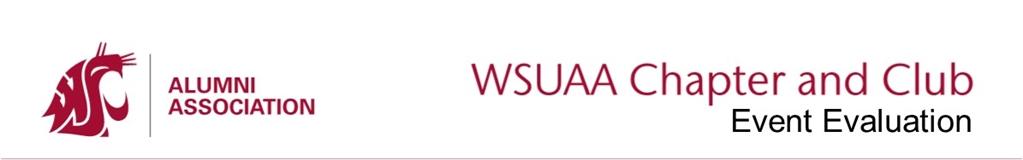 Washington State University Alumni Association - Event Evaluation