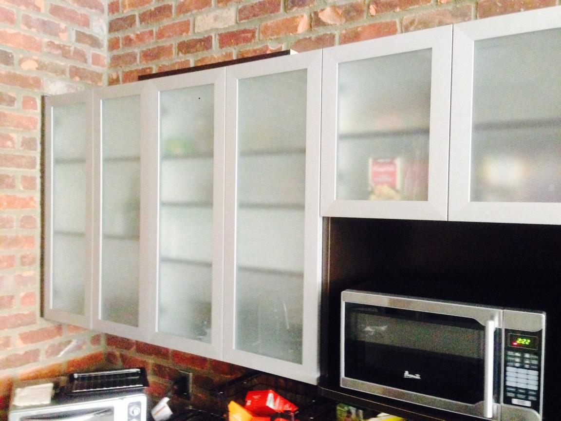Kitchen Cabinet Doors With Frosted Glass Panels Aluminum Frame Glass Cabinet Doors With Frosted Painted