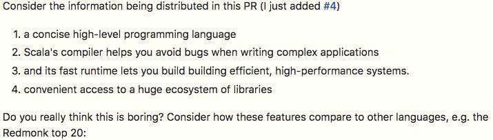 A good elevator pitch description of Scala alvinalexander