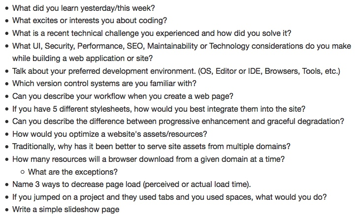 Front end developer job interview questions alvinalexander
