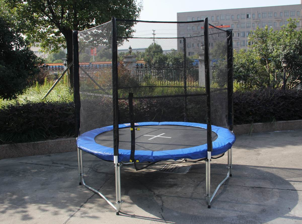 Trampoline Sale Australia 8 Feet Indoor Outdoor Trampoline Enclosure Set With Safety