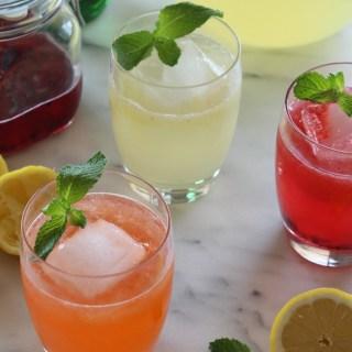 Sparkling Fruit Shrub Lemonade | alwayseatdessert.com