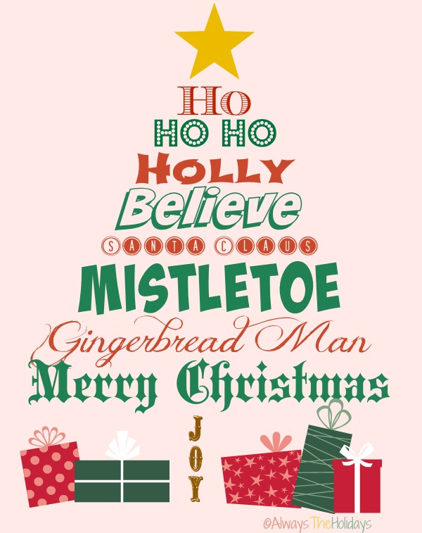 Christmas Quotes and Graphics - Always the Holidays - christmas tree words