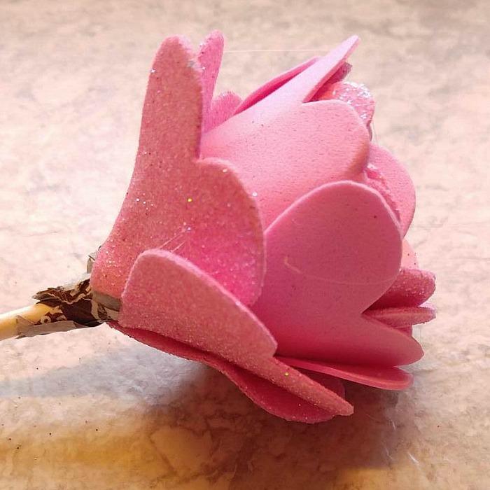Tootsie Pop Flower Valentines - Valentine\u0027s Day Lollipop Flowers