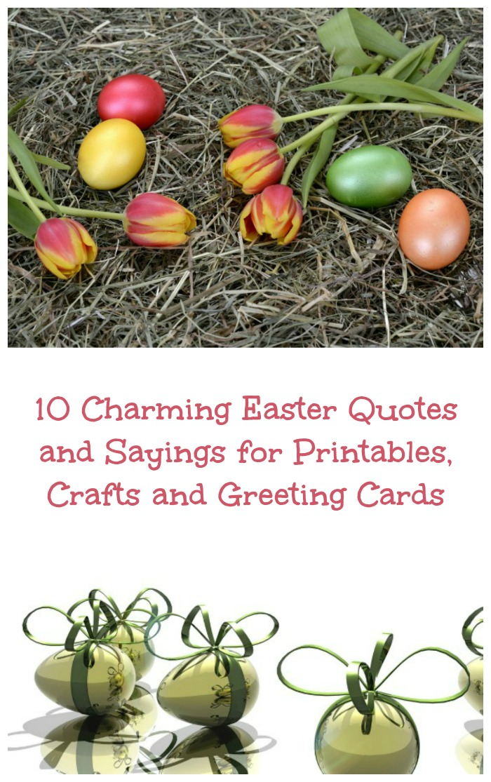 Easter Quotes for Crafts, Cards and Printables - Always the Holidays