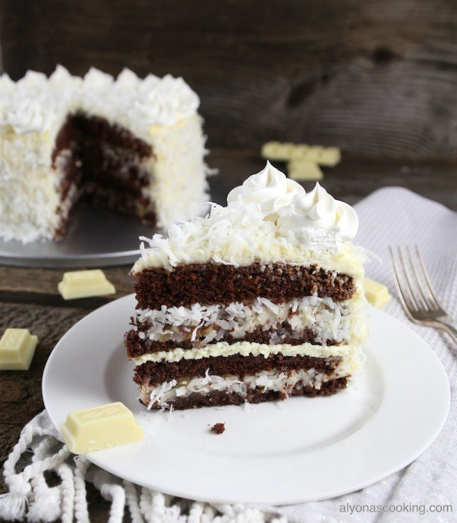 Slice-of-raffaello-cake