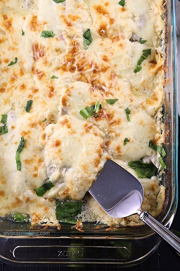 Creamy-Baked-Tilapia-Spinach-Casserole