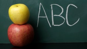 2_Apples_and_Chalk_Board_with_ABC_Written