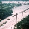 Long range photo of 'Tank Man'