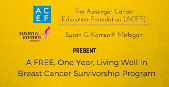 You give up things when you join ACEF's FREE Living Well in Breast Cancer Survivorship program…