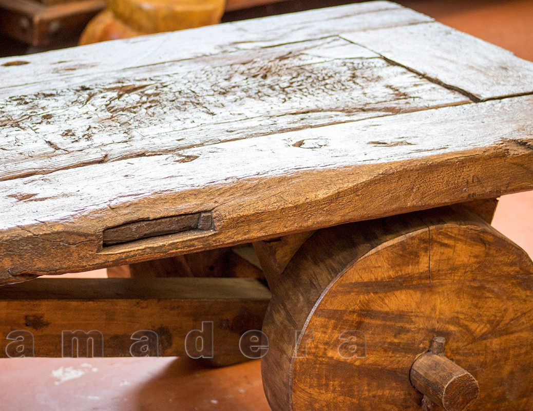 Table Bois Jardin Table Basse En Pin Ancien Table De Salon Originale Avec