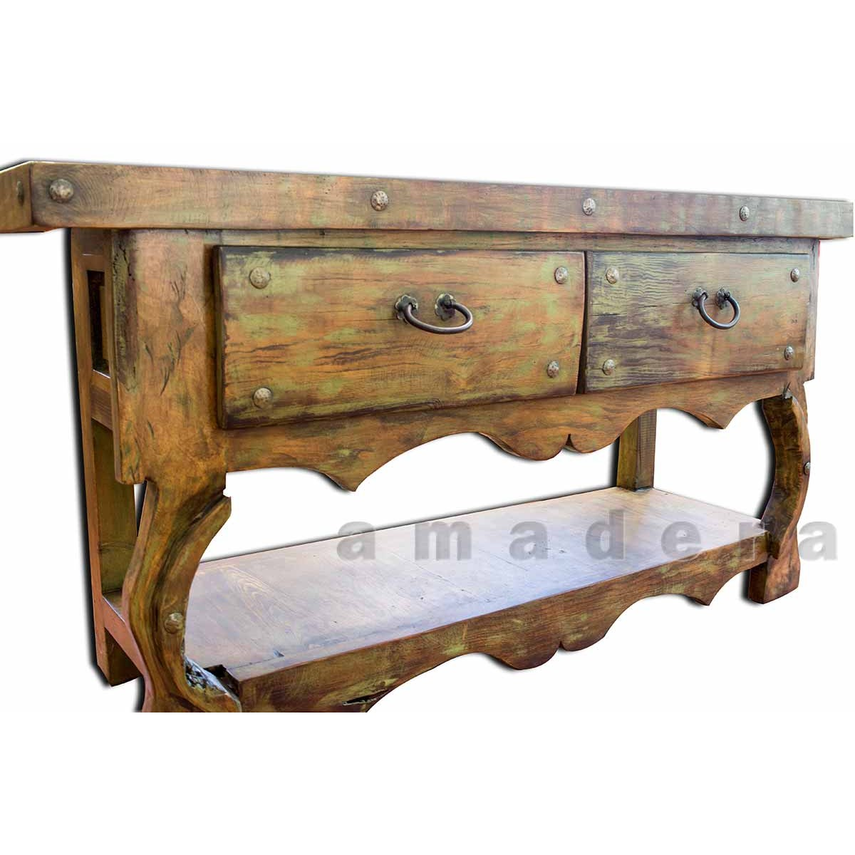 Meuble Mexicain Mobilier Mexicain Console Deux Tiroirs En Pin Fabrication